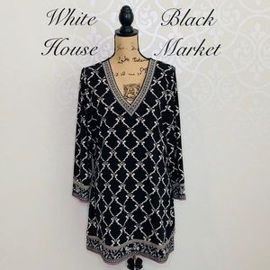 WHITE HOUSE BLACK MARKET BLACK TUNIC/SHIFT DRESS